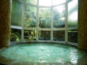 【夫人浴場 紅雪】緩やかな曲線描く壁と円形の湯船