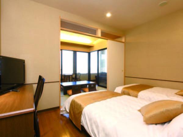 窓が2面あるスイートタイプの角部屋和洋室(一例)※禁煙室