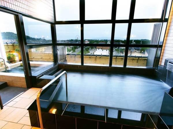 【パノラマ大浴場】赤穂の塩辛い温泉