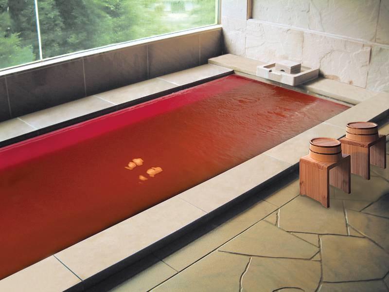 【貸切風呂】ワイン風呂