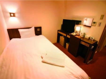 (客室例)ベットが1台だから、お値打ち宿泊が可能!セミダブル