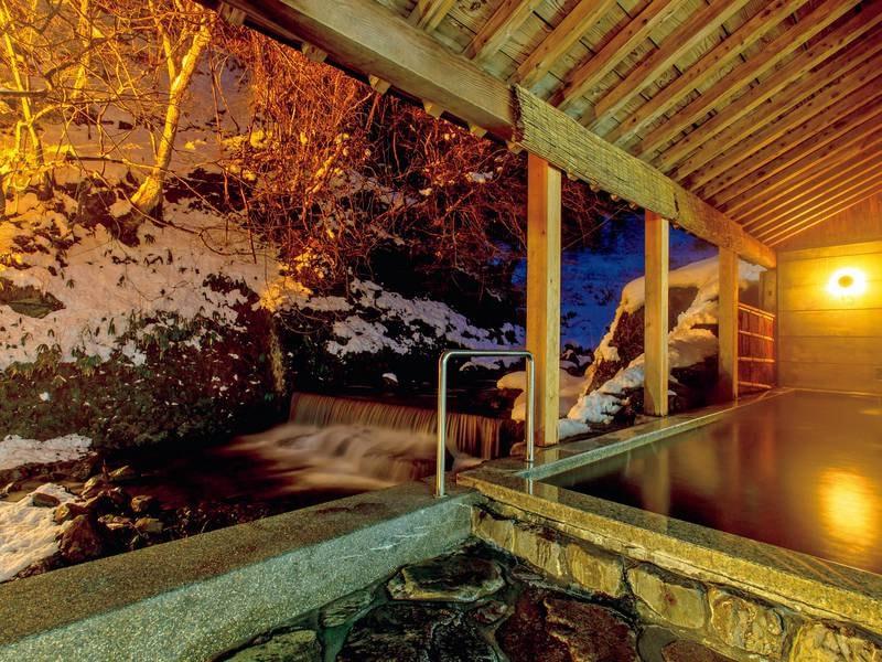 【雪見露天/例】雪の日の景色は冬の贅沢