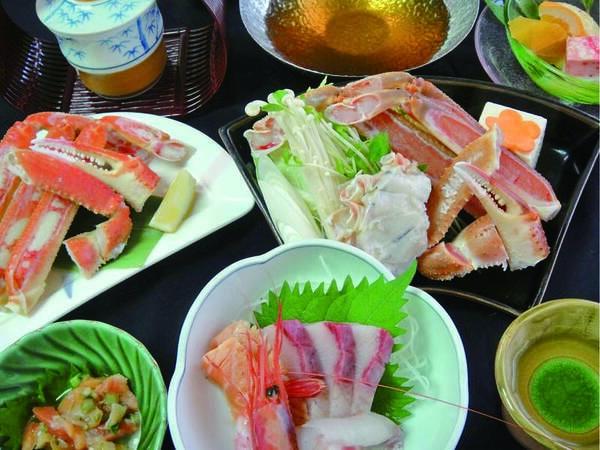 【夕食/例】蟹3品をお得な価格で!