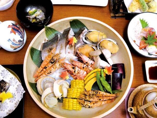 海鮮宝楽焼会席プラン/例 ※写真は複数名盛りの例