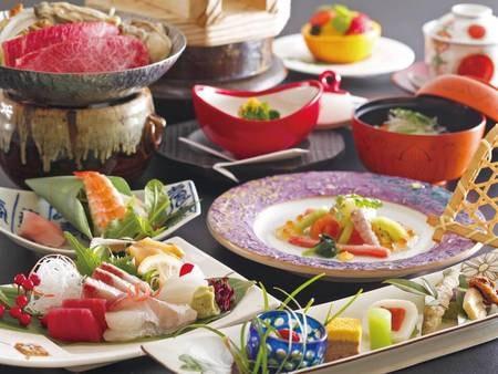 【料理長お任せ旬会席/例】瀬戸内の新鮮な海の幸と旬の地野菜を盛り込んだこだわり会席