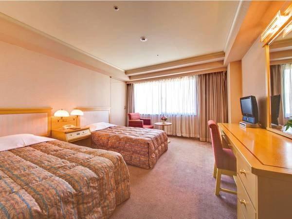 【ツイン/例】約20~25㎡のお部屋にベッド幅97㎝のベッドが2台のツインルーム