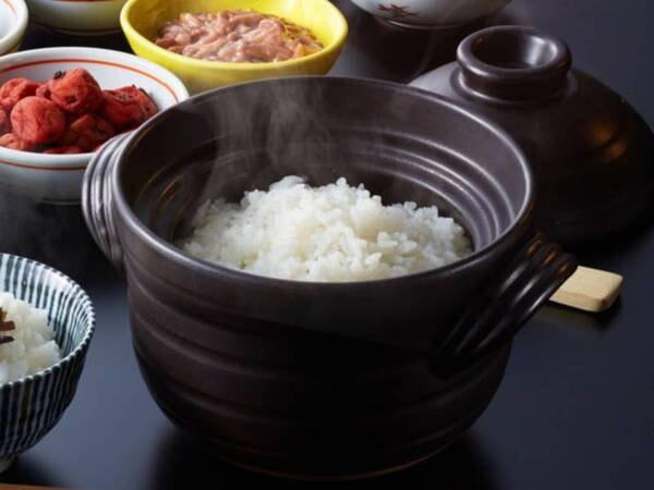 窯炊きご飯がおいしい朝食/例