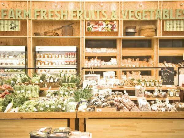 【敷地内 道の駅】地元野菜やカフェなどが並ぶ
