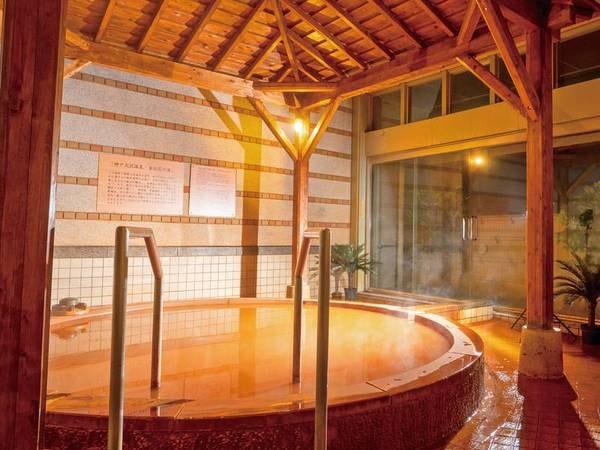 【神戸 ホテル フルーツ・フラワー】掛け流し露天風呂は効能豊かな「含鉄泉」のにごり湯。夕食は季節ごとの味覚を味わえる会席料理をご用意