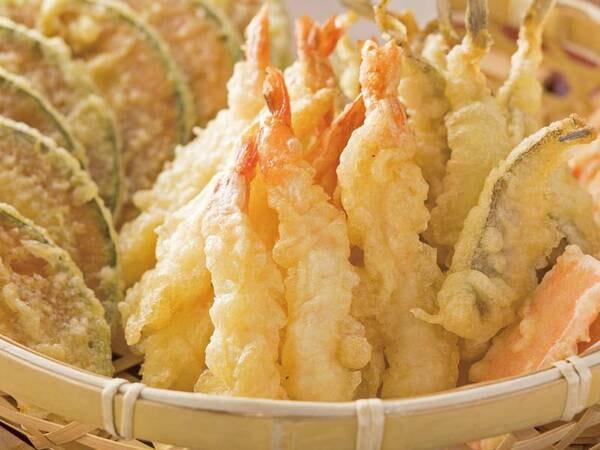 【美食フェア/例】季節野菜と海老天婦羅※バイキング実施例