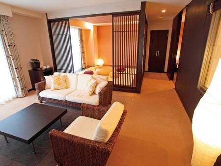 【【禁煙】デラックス和洋室/例】和室を設えた70平米のデラックススイート和洋室