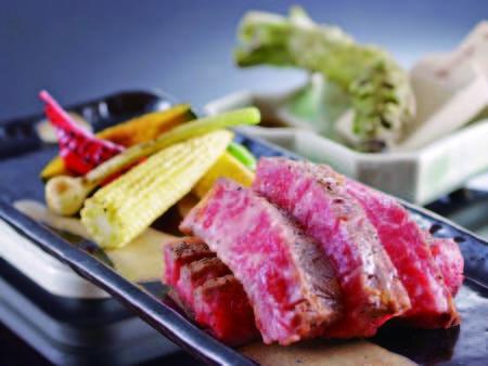 【但馬牛ステーキ/例】四季編み旬彩プランのお肉料理が「但馬牛」にグレードアップ