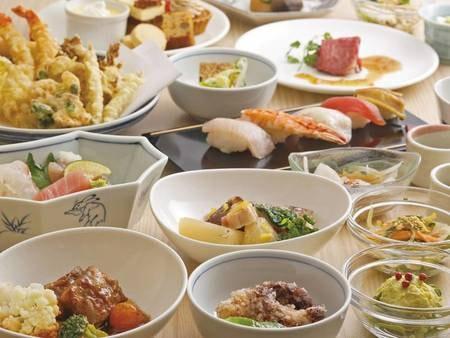 【夕食ディナーブッフェ/例】約60種類のメニュー