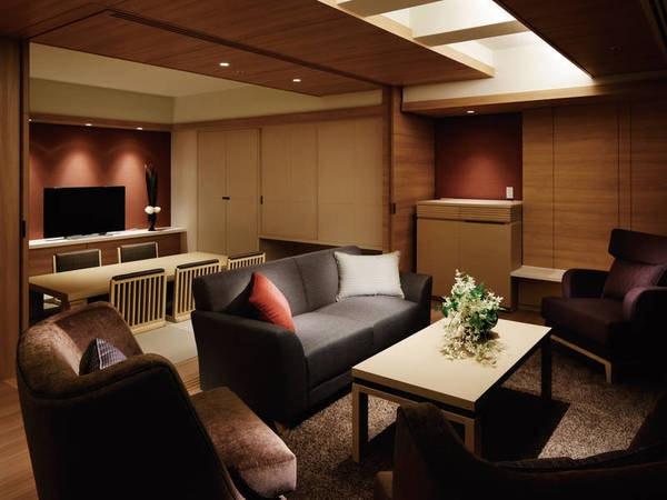 【ハーバースイート/例】オーシャンビューテラスを備えた100㎡の広さを誇る特別室