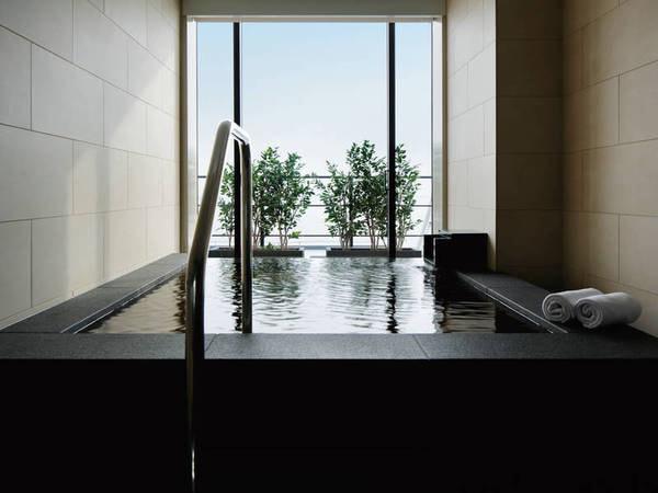 【ハーバースイート/例】かけ流し(加温有)の半露天風呂付