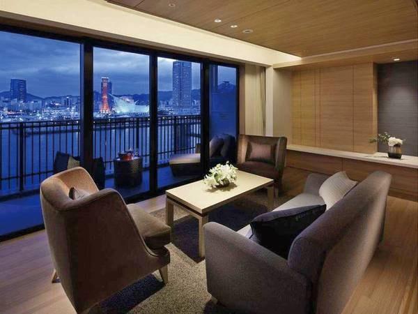 【ハーバースイート客室/例】神戸の夜景を望む