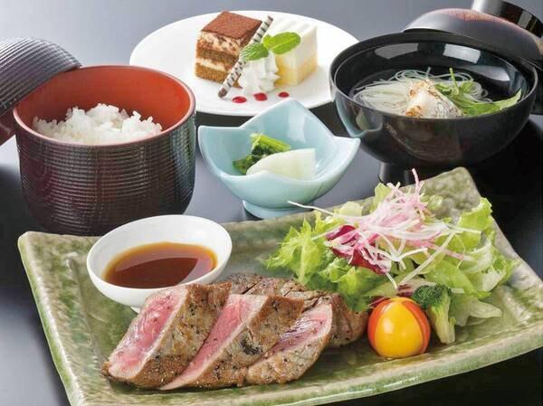 肉汁ジューシー★ステーキ定食/例