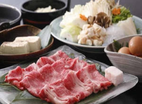 黒毛和牛すき焼きプラン(一例)