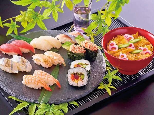 【3~5月 春の料理フェア】『8種類の寿司と穴子のちらし寿司』※イメージ