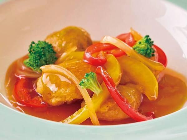 ⑧【3~5月 春の料理フェア】『白身魚の甘酢あんかけ 春野菜と共に』※イメージ