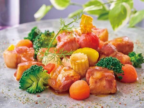 【3~5月 春の料理フェア】『豚角肉とゴロゴロ野菜の生姜炒め』※イメージ