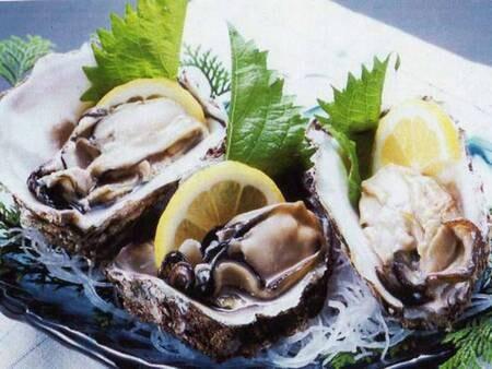 【夏:岩牡蠣付会席/一例】絶品!地物天然の岩牡蠣