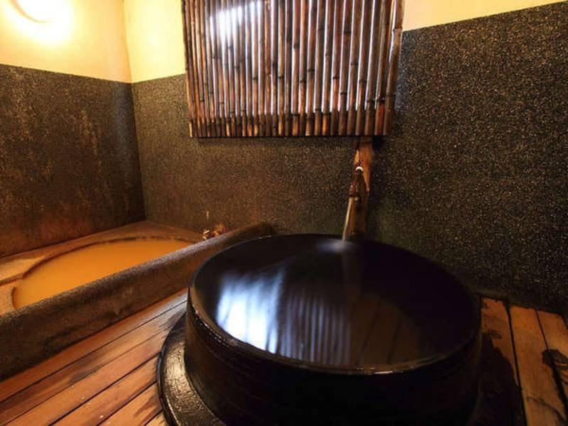 【楓呂】五右衛門風呂で御所源泉をかけ流しで堪能(加水・加温有り)