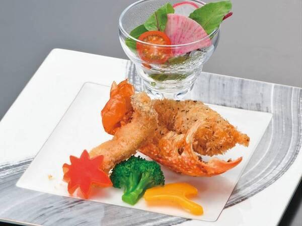 【輝プラン】ロブスターと松茸の変わり揚げ/例