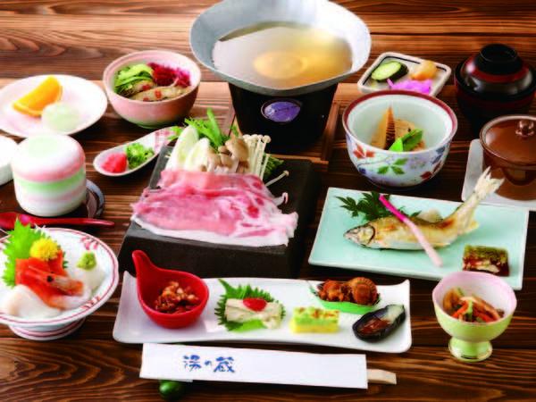 【夕食 日光HI・MI・TSU豚/例】 とろける味わいの人気ブランド豚をぜひ