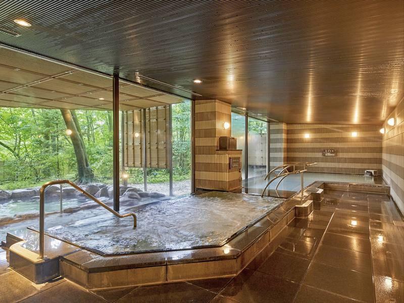 【大浴場】寝湯、サウナ、ミストサウナ、ジャグジーなどリラクゼーション設備も充実