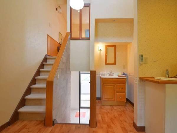 【離れメゾネットAタイプ/一例】リビング・温泉・ベッドルームを3階層にご用意しております