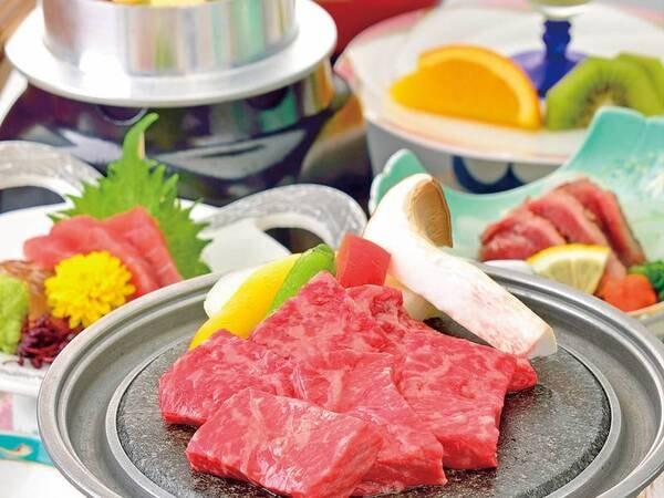 鹿沼牛の石焼き付のお夕食 ※写真/例