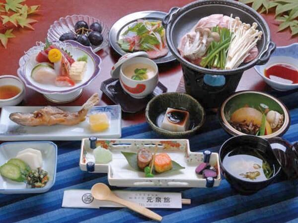 【夕食/例】季節の食材を使った会席膳をご用意