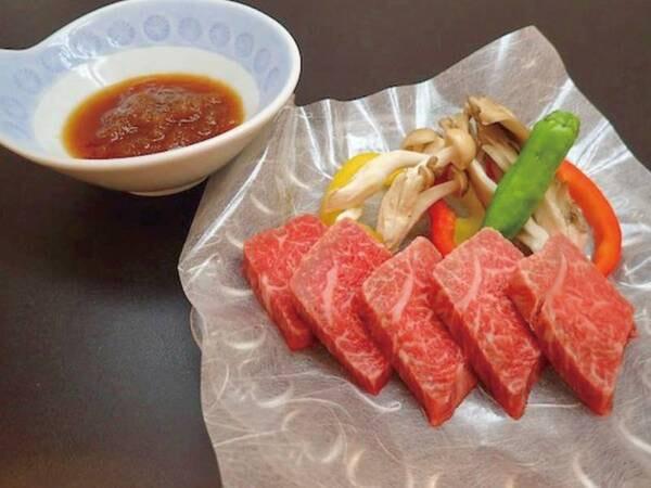 【夕食/例】メインはA5ランク栃木和牛ステーキ!