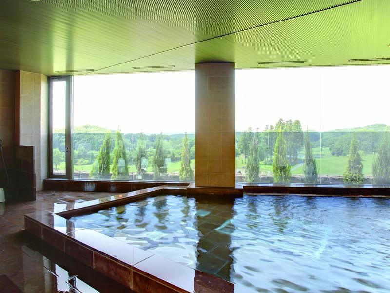 【女性大浴場】アルカリ泉質pH8.5の効能豊かな美肌の湯が注がれる