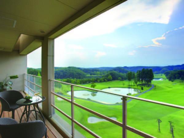 【客室眺望/例】全室テラスより那須連山nの雄大な景色を望む