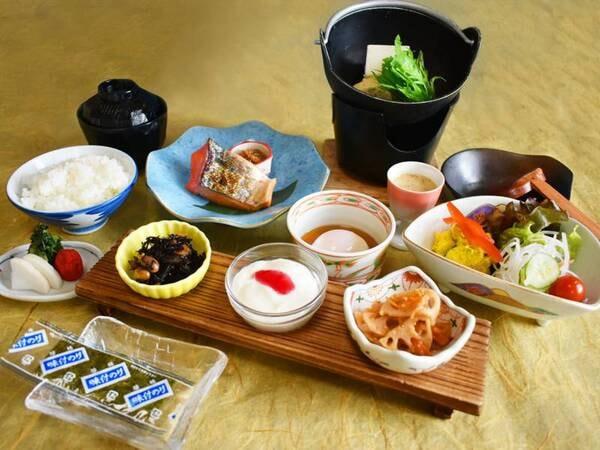 地那須高原産の野菜や牛乳が大人気のご朝食