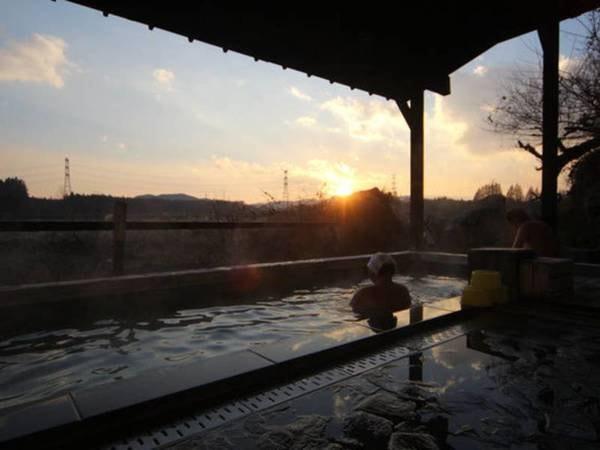 露天風呂から見る夕焼け