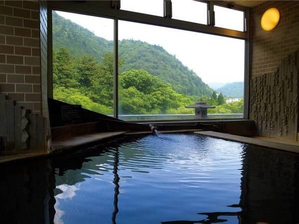 【7階内湯 男風呂/例】眼下には箒川の雄大な景色が広がる