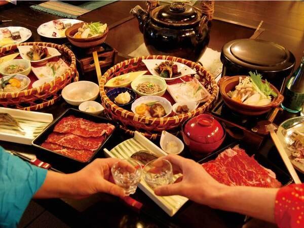 【夕食/例】日光高原牛の田舎仕立て鍋など、地場食材を堪能