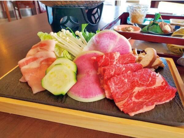 【メイン:牛と豚しゃぶしゃぶ】質・量ともにこだわった和食会席~夏の膳~夕食例
