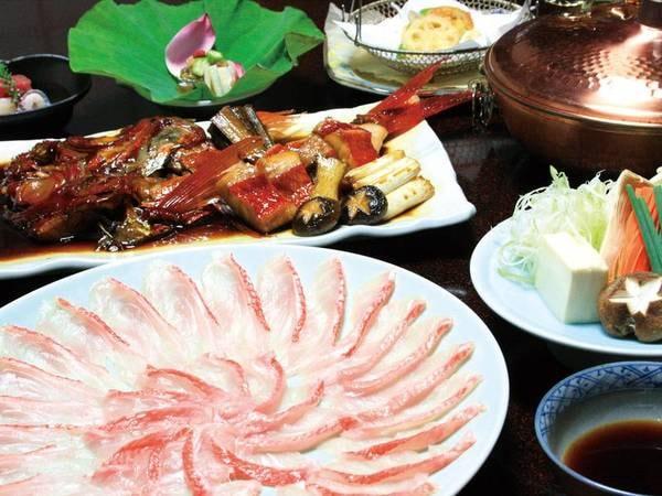 【金目鯛しゃぶしゃぶ&煮付け会席/例】稀少トロ金目鯛をしゃぶしゃぶ&煮付けで味わう!