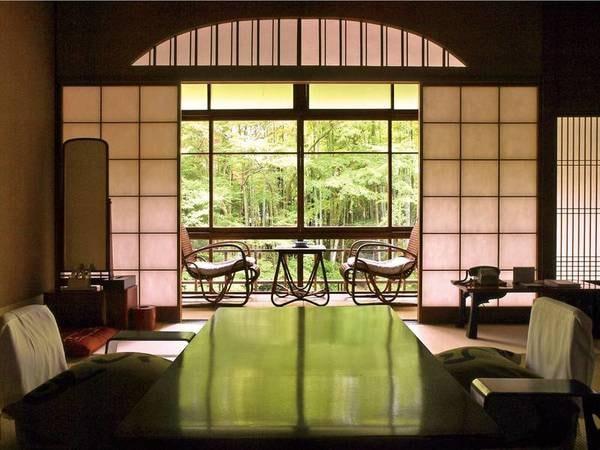 【花の棟客室/例】竹林の小径をお部屋からゆっくり眺めることの出来る、修善寺で唯一の客室