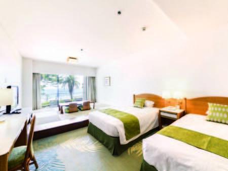 【和洋室/例】モダンな琉球畳の寛げる和スペースとツインベッド