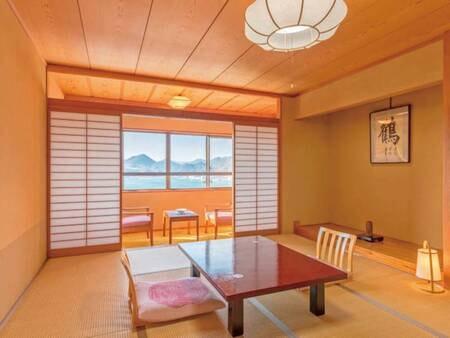 [客室例]日本旅館の佇まいが旅情感ある、オーシャンビュー10畳和室
