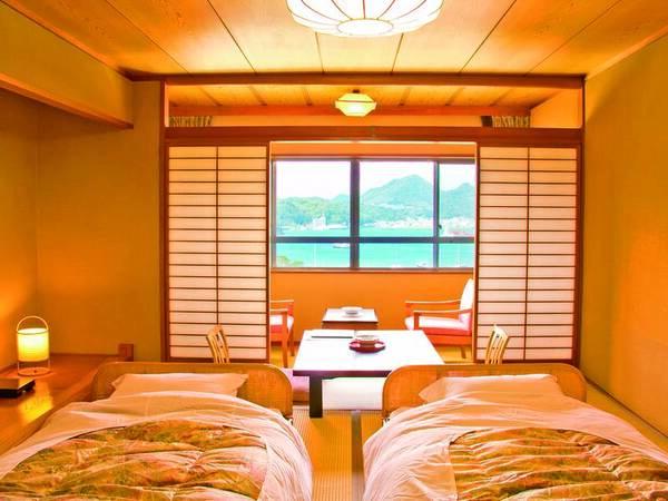 和ベッド客室(10畳+広縁)