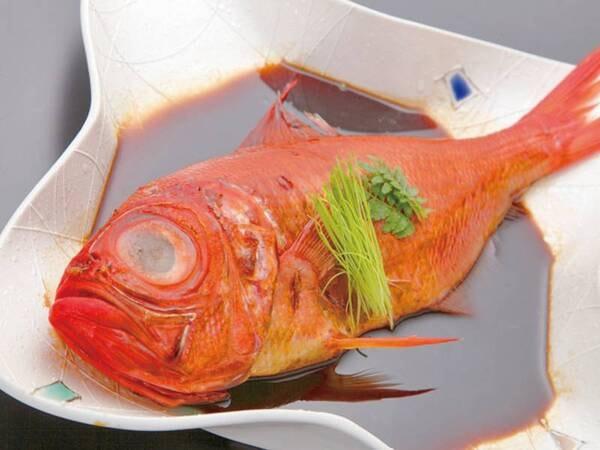 ふっくらやわらかい。。金目鯛姿煮一例