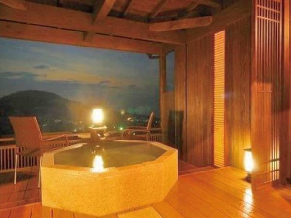 【客室・夢庵/例】離れタイプの和室。海を望む専用露天風呂付き