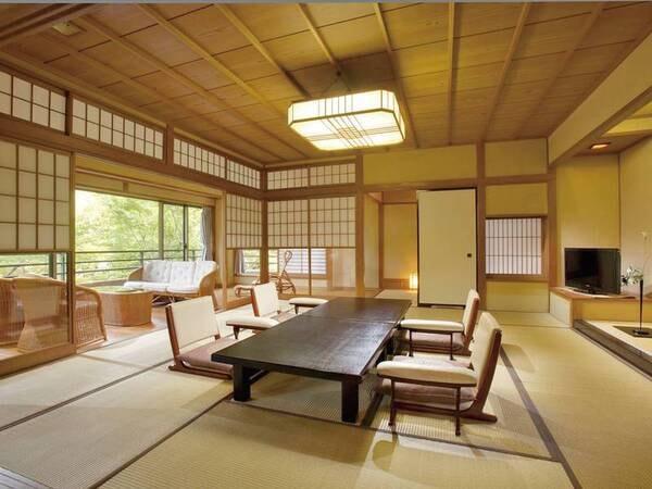 【北斗館客室一例】清流荘の中でも最もラグジュアリーな特別室