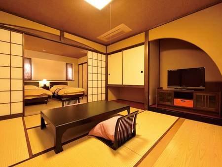 【温泉半露天風呂付き客室/和洋室(ツイン)/例】